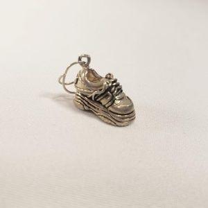 Jezlaine Vintage Silver 3D Sneaker Charm 925